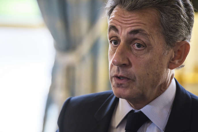 Nicolas Sarkozy, au palais de l'Elysée, en novembre 2017.
