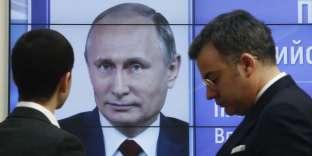 Dans les locaux de la commission de centrale électorale, à Moscou, le 19 mars.