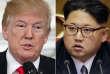Le président Donald Trump et le leader nord-coréen Kim Jong Un