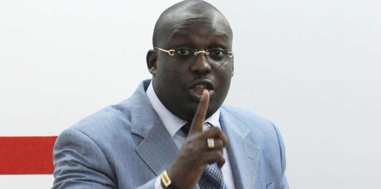 Stéphane Kipré, le président de l'Union des nouvelles générations (UNG), à Abidjan, en novembre 2008.