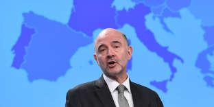 Le commissaire européen à l'économie et à la fiscalité, Pierre Moscovici, à Bruxelles, en février.