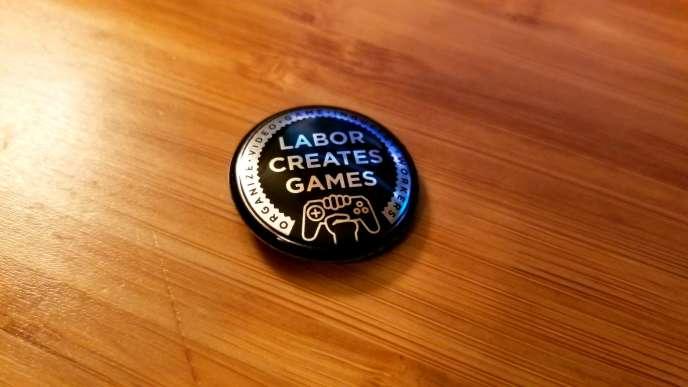 A la Game Developpers Conference sont apparus les premiers badges à l'effigie de la première organisation de défense des salariés du jeu vidéo.