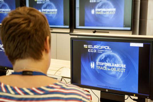Au siège d'Europol, à La Haye, en 2017.