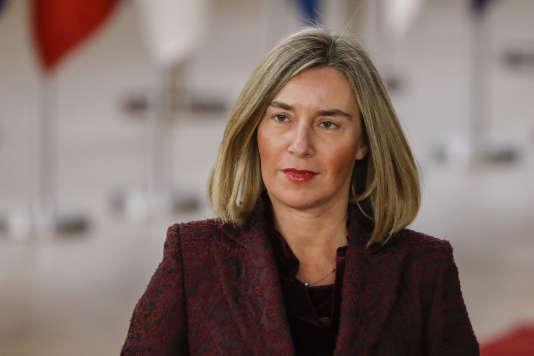 Une plainte auprès du médiateur de l'Union européenne a été déposée le 28 mars 2018 contre le service de «fact checking» de l'Union, dirigé par la haute représentante de l'UE pour les affaires étrangères, Federica Mogherini – ici le 22 mars.