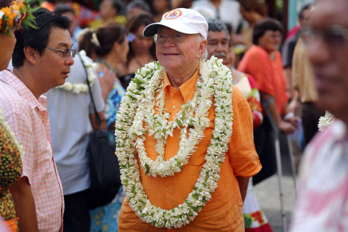 Gaston Flosse dans la capitale Papeete, Polynésie, le 28 septembre 2014.