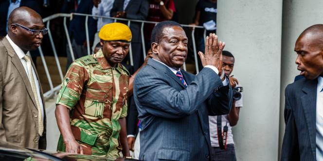 Le président du Zimbabwe, Emmerson Mnangagwa, le 18février 2018, à Harare.
