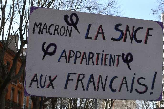 Lors de la journée de mobilisation du 22 mars.