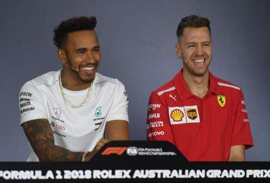 Lewis Hamilton et Sebastian Vettel (avec sa nouvelle coupe) visent un 5e titre de champion du monde.