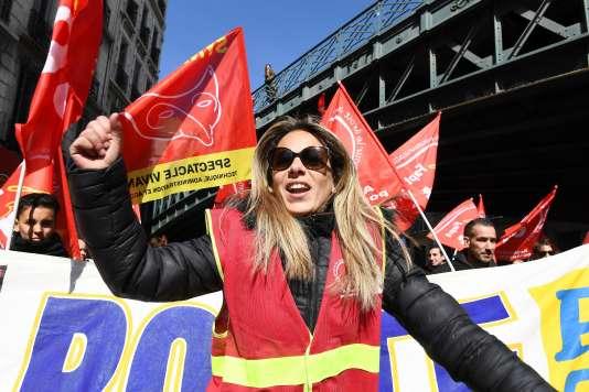 Manifestation marseillaise contre la politique gouvernementale, jeudi 22 mars.