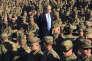 Le secrétaire à la défense des Etats-Unis, James Mattis, s'adressant aux soldats de la base américaine de Guantanamo (Cuba), le 21 décembre 2017.