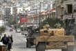 Les forces turques en patrouille dans la région d'Afrin, en Syrie, le 22 mars.