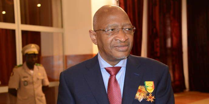 Le premier minsistre du Mali, Soumeylou Boubeye Maïga, le 29 septembre 2017 lors d'une remise de décorations à Bamako.