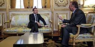 Emmanuel Macron et François Bayrou, à l'Elysée, en novembre 2017.