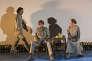 De gauche à droite : Stanislas Nordey, Sava Lolov et Valérie Dréville dans«Le Récit d'un homme inconnu», de Tchekhov mis en scène par Anatoli Vassiliev.