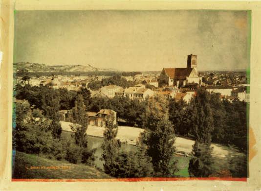 Vue de la ville d'Agen, en 1877, photo de Louis Ducos du Hauron.