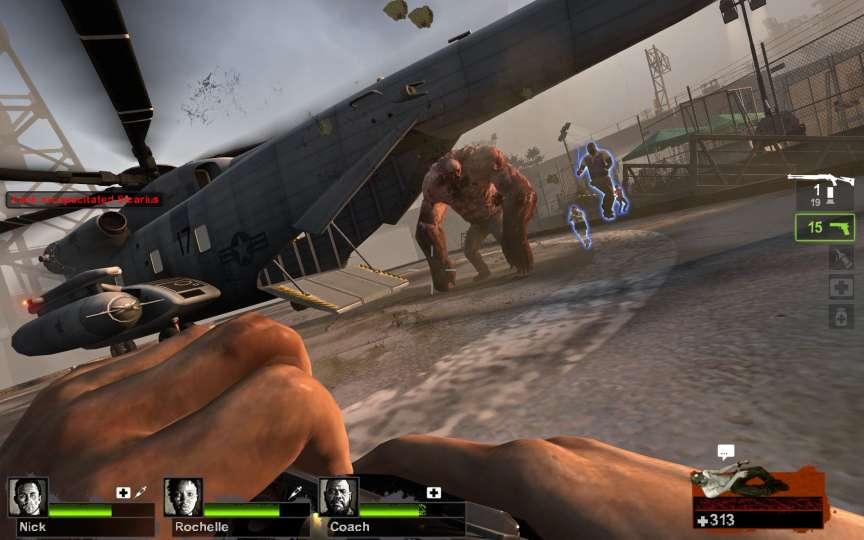 Idéalement, dans« Left4Dead», les quatre joueurs repartiront ensemble par l'hélicoptère. Idéalement...