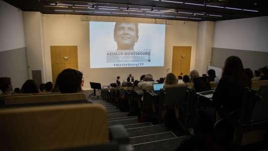 Arnaud Montebourg était invité par l'association de conférences et débats de l'IESEG, le 19 mars, pour une conférence intitulée : «De Bercy à l'entrepreneuriat made in France».