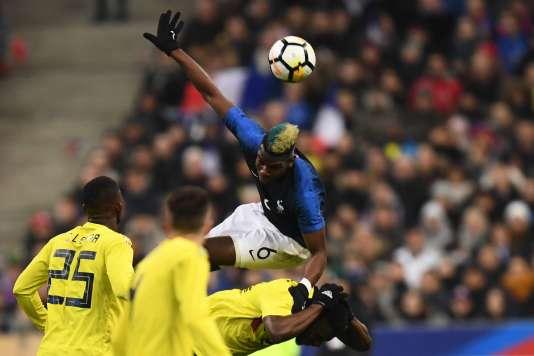 Paul Pogba contre la Colombie, le 23 mars 2018.