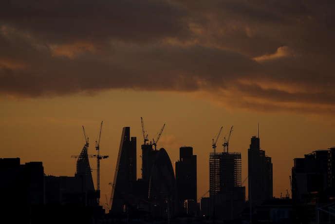 La City de Londres, le 12 février.