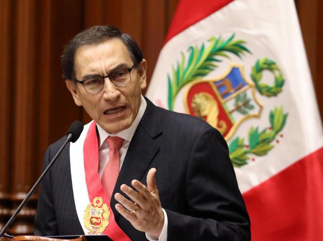 Martin Vizcarra est le nouveau président du Pérou, à Lima, Pérou, le 23 mars 2018.