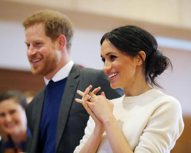 Le prince Harry et sa fiancée, Meghan Markle, à Belfast (Irlande du Nord), le 23 mars.