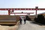 Dans une aciérie à Cangzhou, en Chine, le 19 mars.