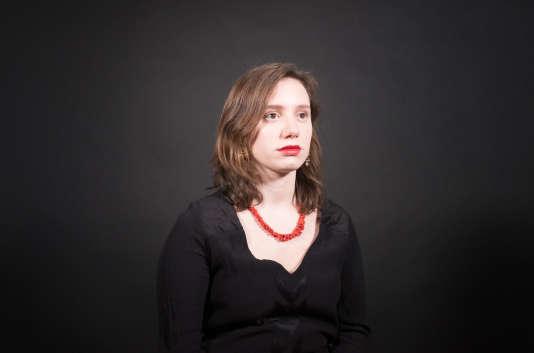 Roxane Lundy, présidente du mouvement des jeunes socialistes, dans les locaux du Monde, le 23 mars 2018.