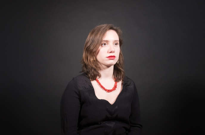 Roxane Lundy, présidente du mouvement des jeunes socialistes, dans les locaux du «Monde», le 23 mars 2018.