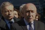Le ministre de l'intérieur, Gérard Collomb, a fait une déclaration, vendredi 23 mars à Trèbes, après l'attentat qui a coûté la vie à trois personnes.