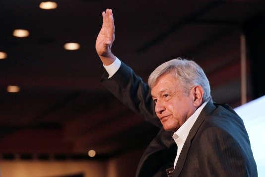 Andrés Manuel Lopez Obrador, à la tête du Mouvement de régénération nationale (Morena).