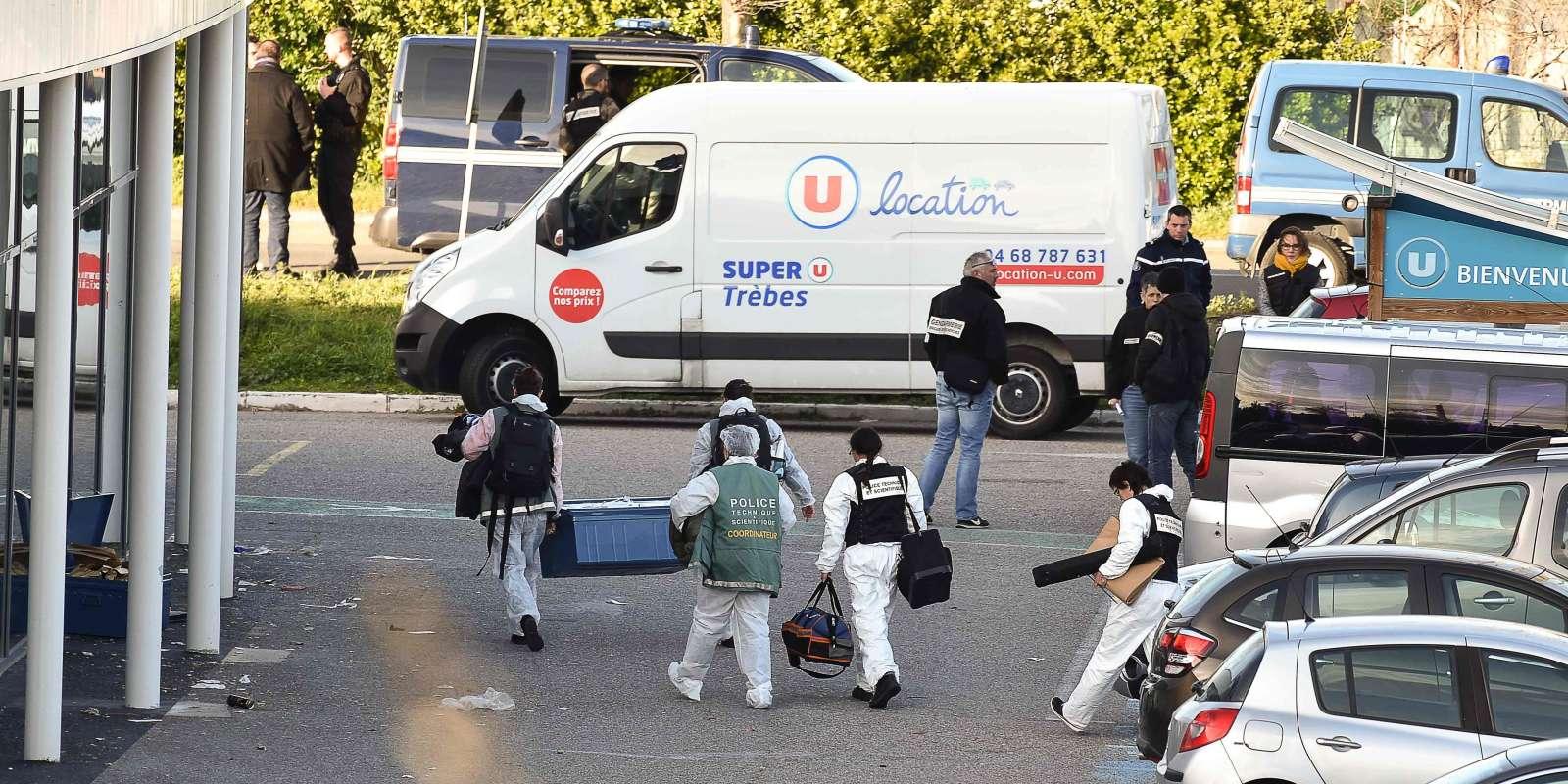 L'assaut a été donné contre un Super U, à Trèbes, où une prise d'otages était en cours vendredi 23 mars. L'organisation Etat islamique a revendiqué les attaques qui ont fait trois morts dans l'Aude. Le preneur d'otages a été abattu.