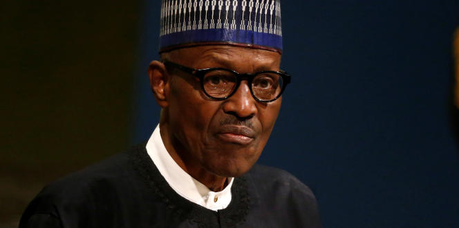 Le président nigérian, Muhammadu Buhari, au siège de l'ONU, à New York, le 19septembre 2017.