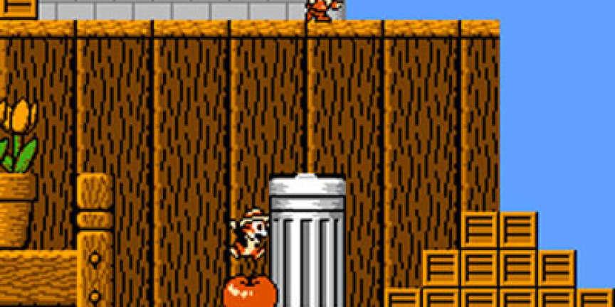 «Chip'n Dale», un des premiers jeux de plate-forme à succès jouable à deux en même temps.