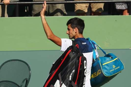 Novak Djokovic après sa défaite à Miami, le 23 mars 2018.