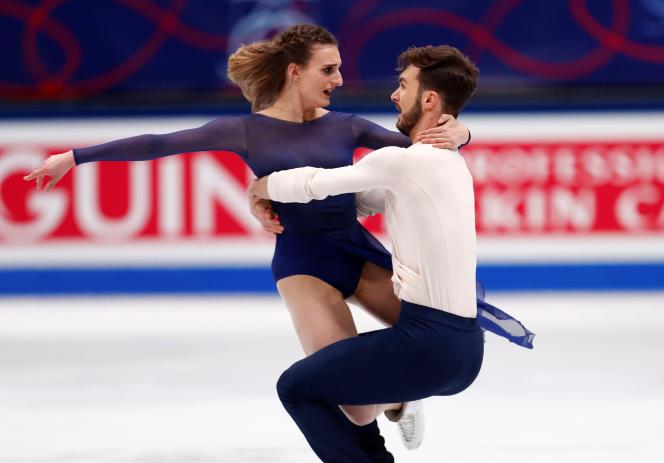 Gabriella Papadakis et Guillaume Cizeron, à Milan, le 24 mars.