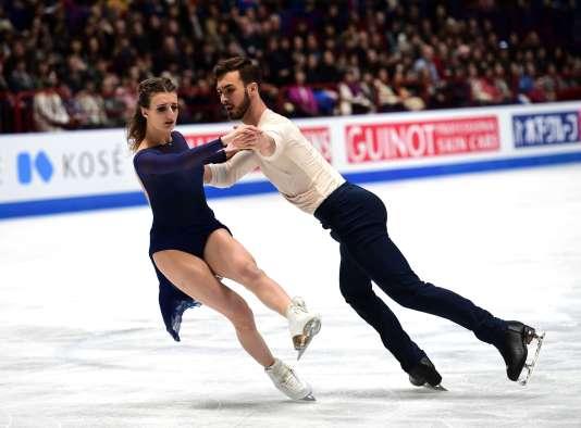 Gabriella Papadakis et Guillaume Cizeron à Milan le 24 mars 2018.