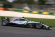 La Mercedes de Lewis Hamilton.