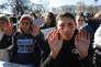 Marche des lycéens pour réclamer un encadrement plus strict des armes à feu, à Washington, le 14 mars.