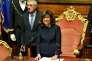 Maria Elisabetta Alberti Casellati devient la première femme à présider le Sénat italien. AFP / Andreas SOLARO