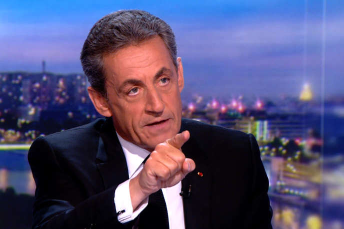 Nicolas Sarkozy au « 20 heures » de TF1, jeudi 22 mars.
