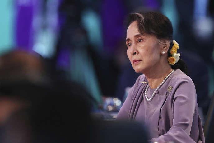 Aung San Suu Kyi lors d'un sommet en Australie, le 18 mars à Sydney.