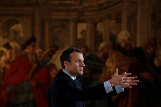 Emmanuel Macron à l'Elysée, le 26 mars.