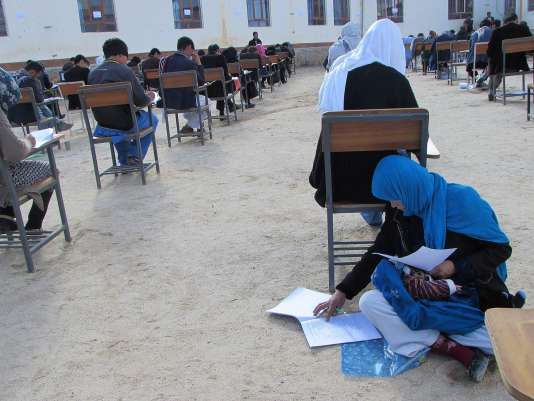 La photo diffusée sur le compte Facebook d'un professeur et relayée ensuite sur les réseaux sociaux.