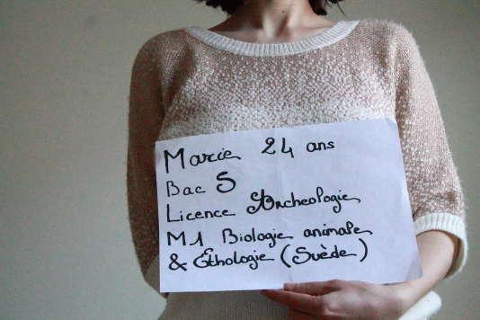 Marie U., 24 ans, étudiante en master 1 de biologie animale et éthologie, en Suède.