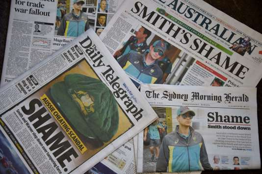 Les «unes» de la presse australienne n'épargnent pas l'équipe nationale.