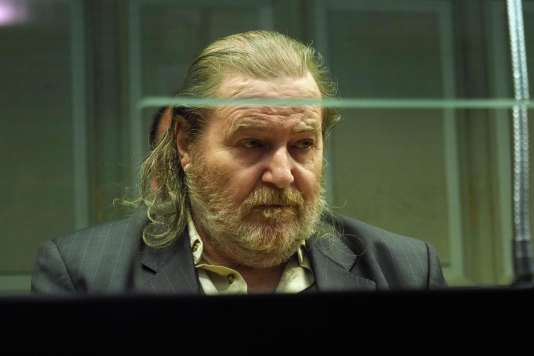 Jacques Rançon dans le box des accusés de la cour d'assises de Perpignan, le 26 mars.