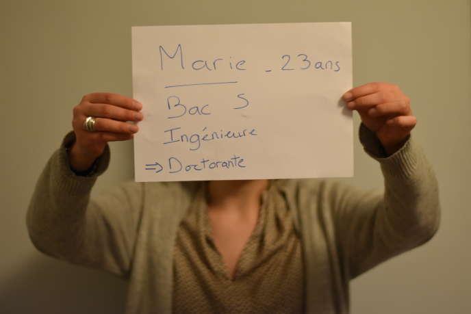 Marie, 23 ans, et désormais ingénieure et doctorante.