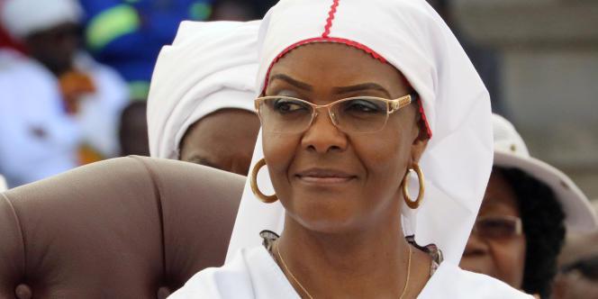 L'anciennne première dame du Zimbabwe, Grace Mugabe, à Harare, en novembre 2017.