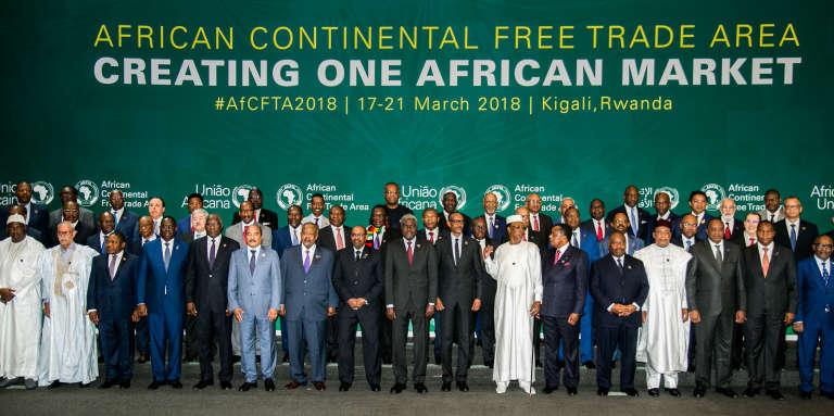 Au sommet extraordinaire de l'Union africaine à Kigali, le 21mars 2018.