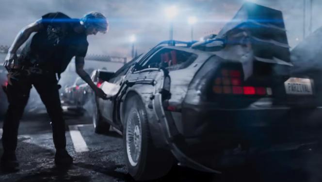 L'emblématiqueDeLorean de «Retour vers le futur» apparaît dans« Ready Player One».
